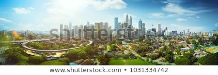 Kuala Lumpur városkép Malajzia sziluett kilátás tv Stock fotó © joyr