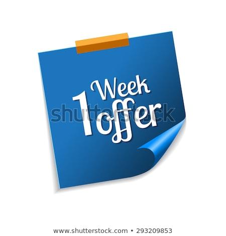 Week bieden Blauw vector icon ontwerp Stockfoto © rizwanali3d