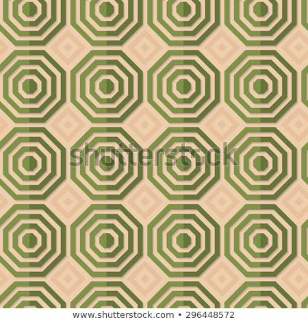 ретро зеленый полосатый геометрический орнамент шаблон Сток-фото © Zebra-Finch