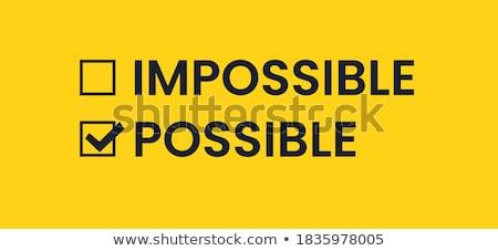 невозможное слово баннер белый женщину человека Сток-фото © fuzzbones0