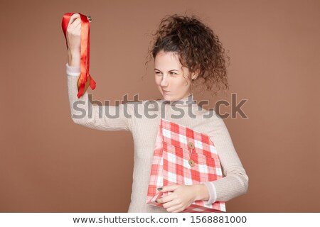 Gezocht geschenk gelukkig meisje vrouw gelukkig mode Stockfoto © alphaspirit