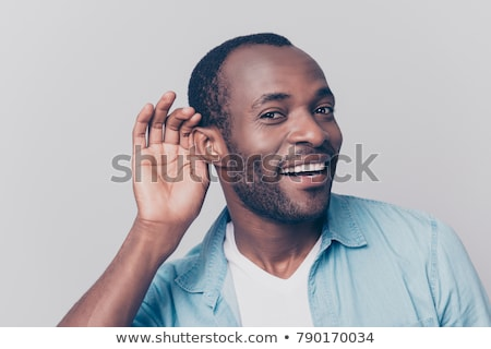 Close-up of a surprised businessman gesturing Stock photo © imagedb