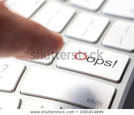 Oops chave lugar tecnologia imprensa Foto stock © fuzzbones0