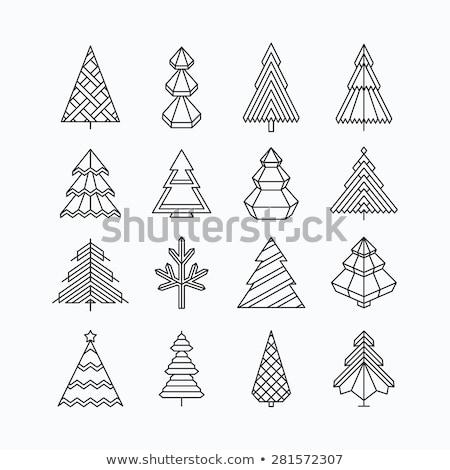 streszczenie · drzew · projektu · elementy · odizolowany - zdjęcia stock © beaubelle