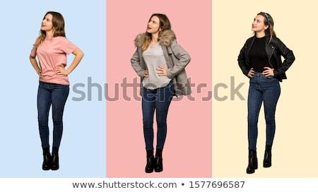 Bizalom nő áll kezek csípők teljes alakos Stock fotó © filipw