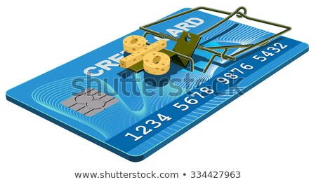Credit card trap. Bank interest free cheese in mousetrap Stock photo © orensila
