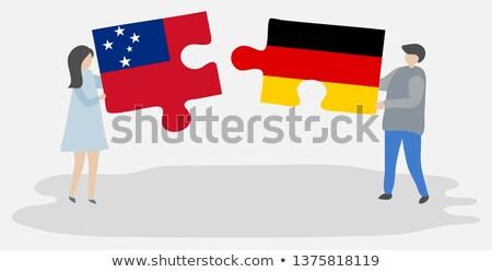 Alemanha Samoa bandeiras quebra-cabeça isolado branco Foto stock © Istanbul2009