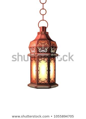 iszlám · lámpa · 3d · render · olaj · arany · muszlim - stock fotó © giko