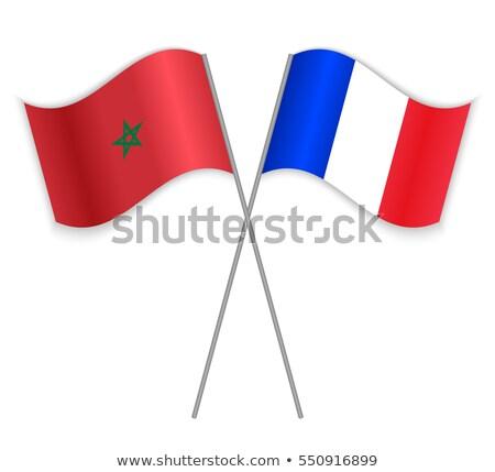 France Maroc drapeaux puzzle isolé blanche Photo stock © Istanbul2009