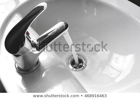 Żuraw łazienka wody mały domu technologii Zdjęcia stock © avq