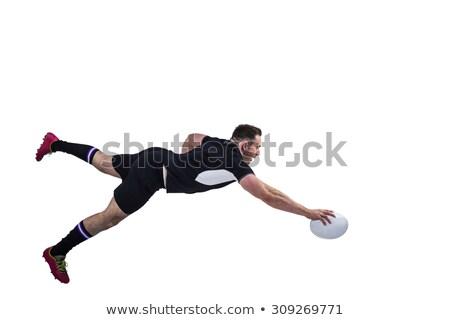 Rugby gracz sportu czarny mężczyzna Zdjęcia stock © wavebreak_media