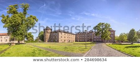 castle in butzbach germany under blue sky stock photo © meinzahn
