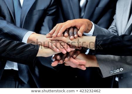 zakenman · groot · hand · business · ondersteuning · hulp - stockfoto © adam121