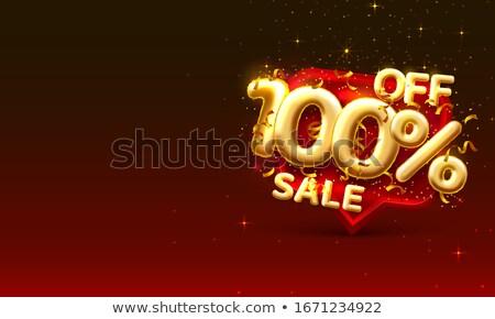 100 オフ 3D 画像 割引 パーセンテージ ストックフォト © idesign