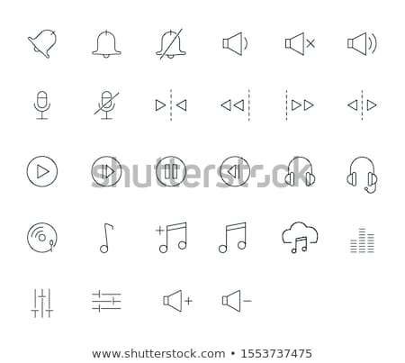 hangszóró · hangerő · vonal · ikon · háló · mobil - stock fotó © rastudio