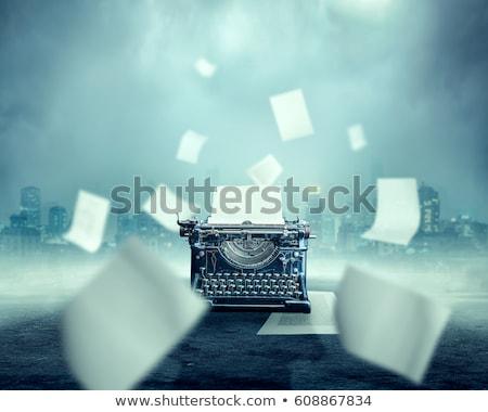 typewriter with sheet of paper stock photo © rastudio