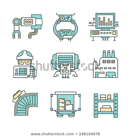 Computerized production line icon. Stock photo © RAStudio
