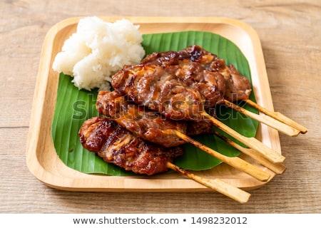 Grilled pork skewer Stock photo © Digifoodstock