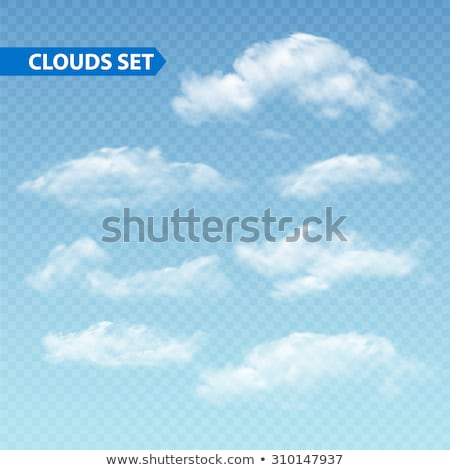 Set of transparent different clouds. Vector. stock photo © Samoilik