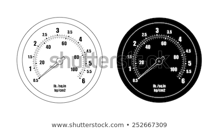 Pressure gauge tyre  line icon. Stock photo © RAStudio