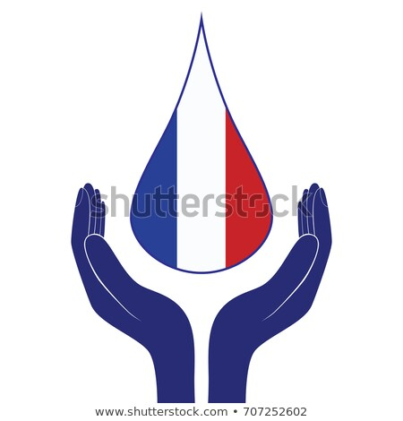 France national flag. People man and woman hands pray for Nice. World support for France. Nice terro Stock photo © Hermione