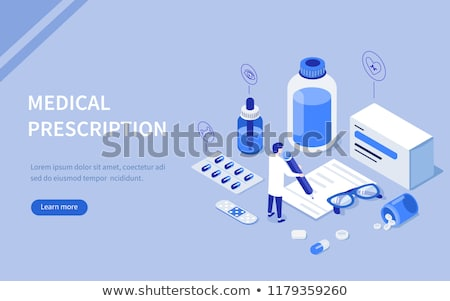 Doctor writing drugs prescription for the patient's therapy Stock photo © stevanovicigor