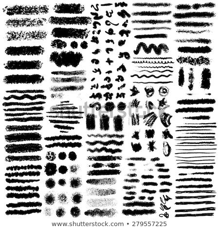 set of oil pastel brush strokes stock photo © pakete