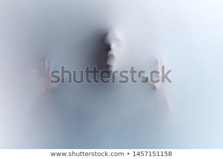 ума человека портрет кричали изолированный черный Сток-фото © MichaelVorobiev