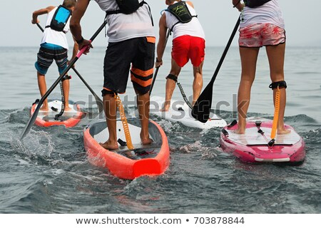 racing stand up paddleboard Stock photo © PixelsAway