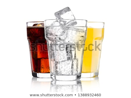 Glasses with soft drinks Stock photo © Oakozhan