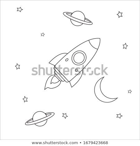Színes illusztráció háború tudomány fehér grafikus Stock fotó © bluering