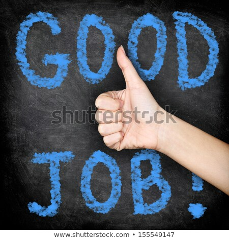 Good Job text on school board Stock photo © fuzzbones0