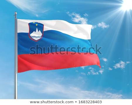 スロベニア フラグ 青空 風 青 ストックフォト © stevanovicigor