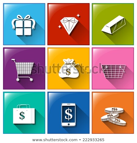 Icons with different things with monetary values Stock photo © bluering