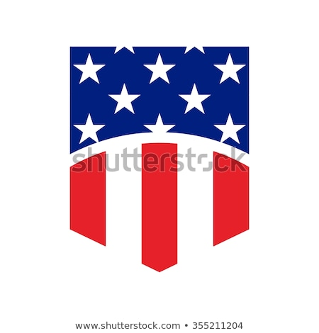 Icon of a Striped Shield Vector Illustration Stock photo © cidepix