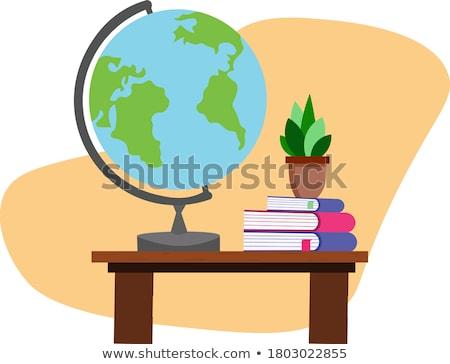 Vector Geographic Globe Flat Style Illustration stock photo © CreatorsClub