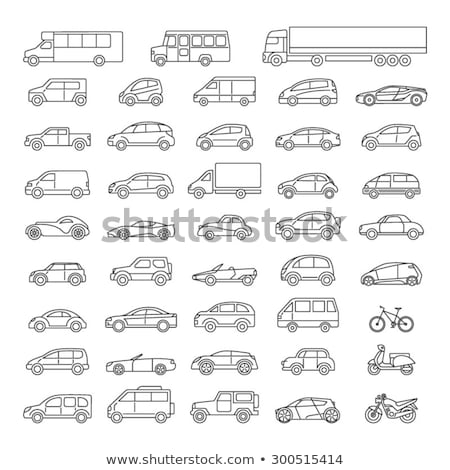 car icons in the linear style stock photo © genestro