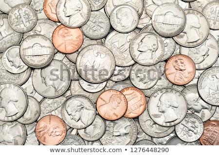 negyed · dollár · érme · vágási · körvonal · üzlet · pénz - stock fotó © capturelight