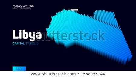 Absztrakt kék hatszög vonalak izzó technológia Stock fotó © ShawnHempel