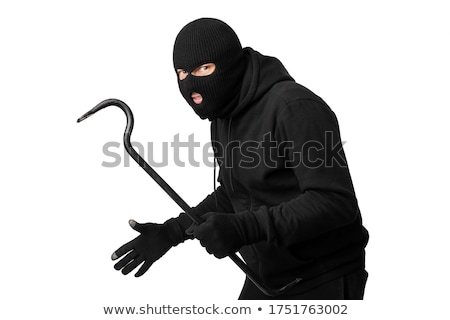 portrait of a burglar with a crowbar stock photo © andreypopov