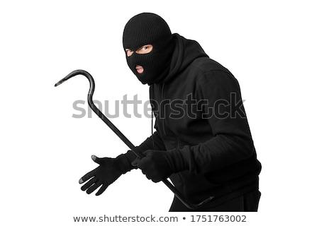 portrait of a burglar with a crowbar stock photo © andreypopov