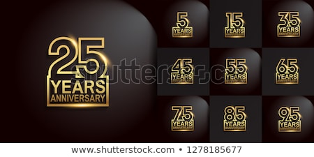 5th anniversary celebration card template Stock photo © SArts