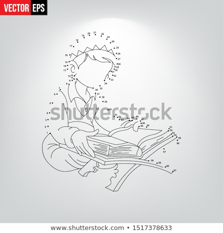 Muslim boy reading book with numbers Stock photo © bluering