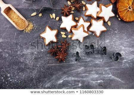 cinnamon star cookies stock photo © digifoodstock
