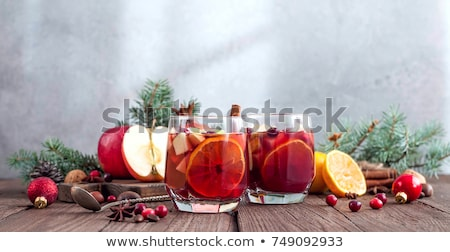Summer sangria on a rustic wood Stock photo © Yatsenko