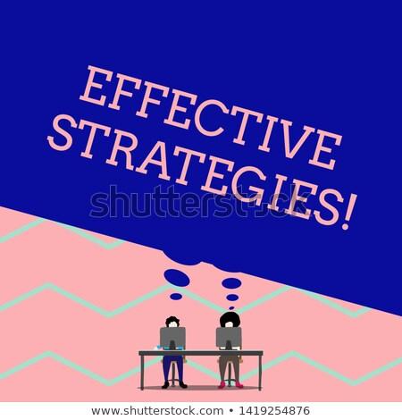 Estrategias palabra táctica palabras plan estrategia de negocios Foto stock © stuartmiles