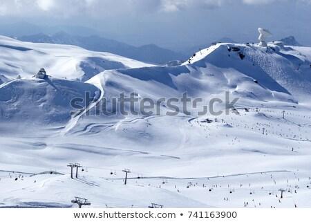 Kar ağaç doğa manzara yaz turuncu Stok fotoğraf © compuinfoto
