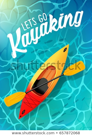 Kajak vector water illustratie outdoor activiteiten Stockfoto © MarySan