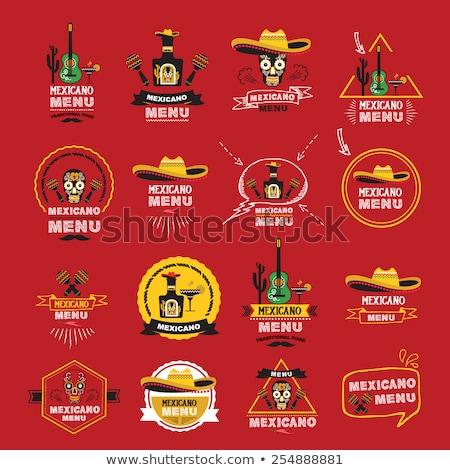 Comida mexicana tacos ilustração menina sorrir beber Foto stock © adrenalina