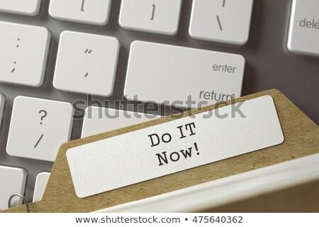 Sort Index Card Do IT Now. 3D Rendering. Stock photo © tashatuvango